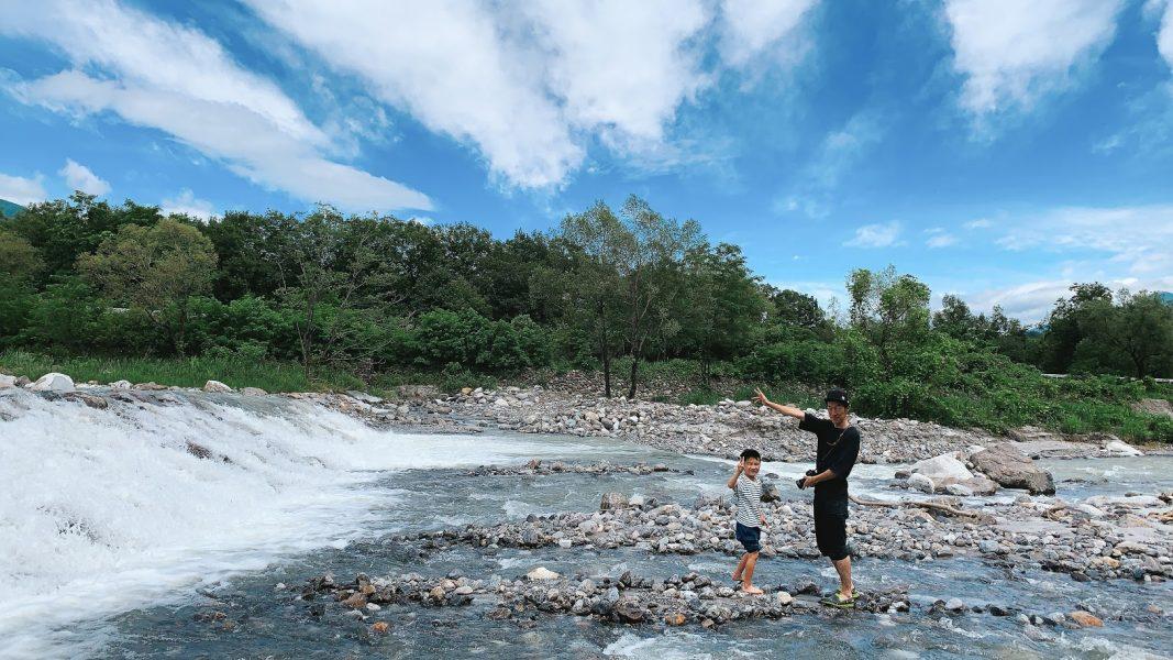 大武川で川遊び