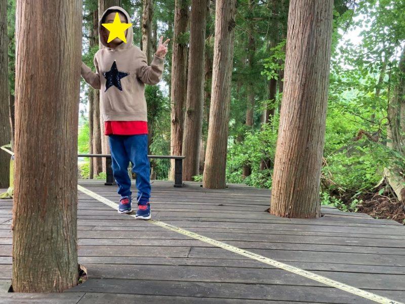 戸狩温泉星降るキャンプ場 スラックライン