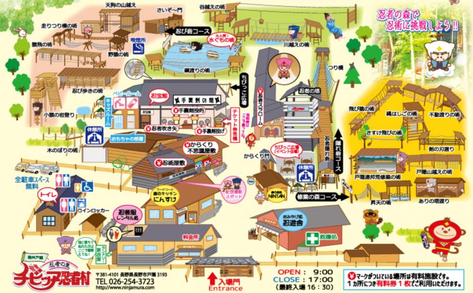 チビッ子忍者村マップ