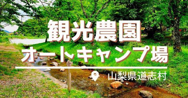 道志川の観光農園キャンプ場は予約不要なのに穴場!夏は蛍観察も出来る!